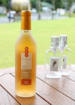 【ピオーネ 氷結搾汁(極甘口)360ml/1944円】 岡山県産ピオーネのみを使用。氷結搾汁なため、ピオーネの甘み、香りが充分に凝縮された贅沢なワイン。女性におすすめ!