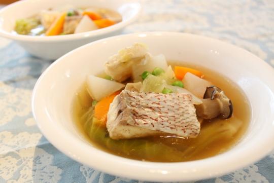 タイと春野菜のポトフ