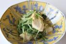 豆腐と水菜の中華風和え