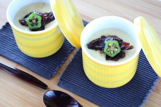 わさび椎茸の豆乳茶碗蒸し