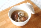 牡蠣としいたけの酸辣湯風スープ