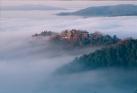雲海展望台から見る備中松山城