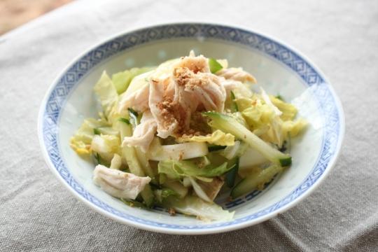 蒸し鶏と白菜のうま塩ナムル